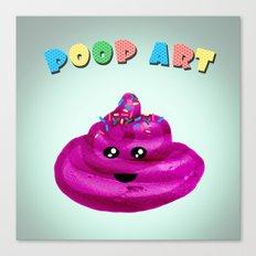 POOP ART Canvas Print