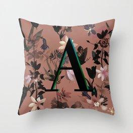 Autumn flowers in the garden Throw Pillow
