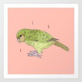 Kakapo Fundraiser Art Print