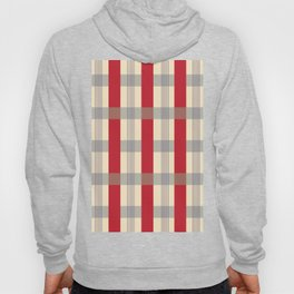 Red Striped Plaid Hoody
