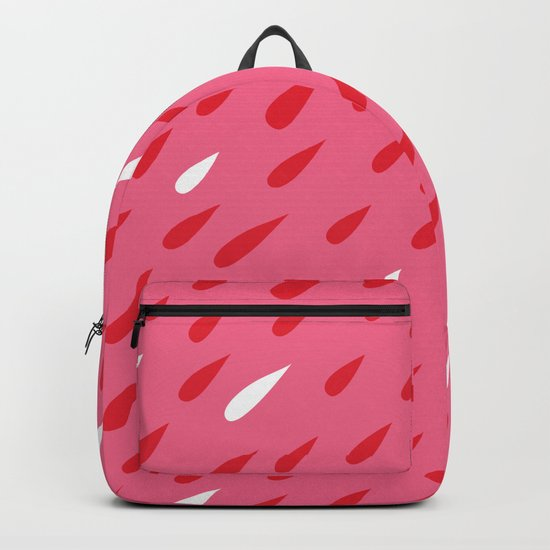 Red + Pink Droplets Backpack