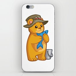 Cartoon Fisherman Teddy iPhone Skin
