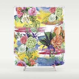 Sea Flowerpower Shower Curtain