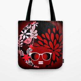 Afro Diva : Sophisticated Lady Red Tote Bag
