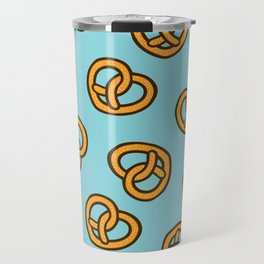 I Heart Pretzels Pattern Travel Mug