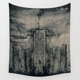 CITY VINTAGE REFLECTION BLUE Wall Tapestry