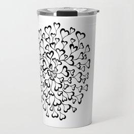 Concentric Hearts Travel Mug