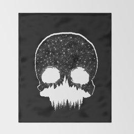 Mountains Skull Throw Blanket