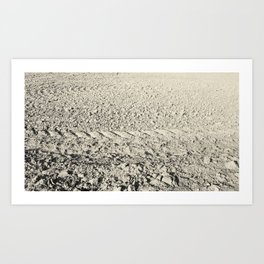 HDR friendly calming furrows Art Print