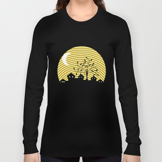 Quiet village at night Long Sleeve T-shirt