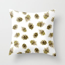 Pine cones pattern. Nature Throw Pillow