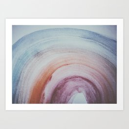 rainbow spectrum watercolor Art Print