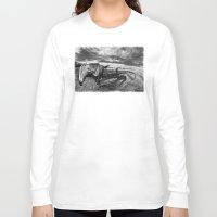 farm Long Sleeve T-shirts featuring Farm Horse by Jennifer Rose Cotts Photography