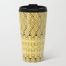 geometric layout in creamy yellow Travel Mug