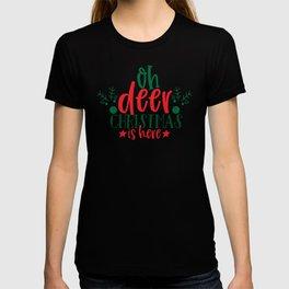 Love Christmas Oh Deer Christmas is Here Reindeer T-shirt