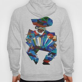 Accordion Player In Cubist Style Hoody