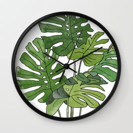 Philodendron Selloum Wall Clock