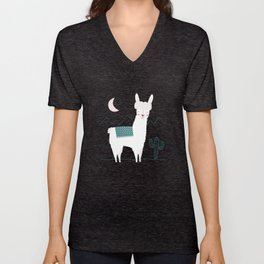 Alpaca In The Mountains Unisex V-Neck