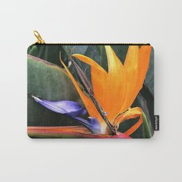 Bird Of Paradise Flower With Chic Leaves Carry-All Pouch
