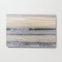 Winter waves at the beach Metal Print