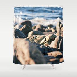 Rocky Ocean Beach Shower Curtain