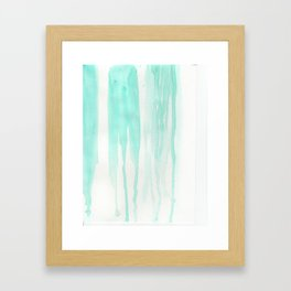 Drip Drop Teal Drop Framed Art Print