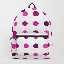 Polka Dots Pattern: Pink & Purple Backpack