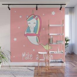 cute lovely cartoon genie unicorn Wall Mural