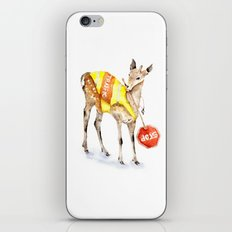 Traffic Controller Deer in High Visibility Vest iPhone Skin