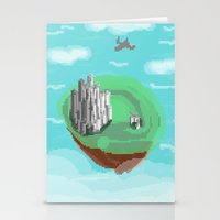 castle in the sky Stationery Cards featuring Sky Castle by wkdowd