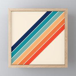 Karanda - 70s Style Classic Retro Stripes Framed Mini Art Print