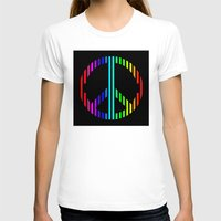 techno T-shirts featuring Techno Peace by JG Designs