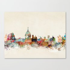 rome italy skyline Canvas Print