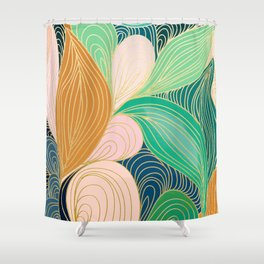 Swirly Interest Shower Curtain