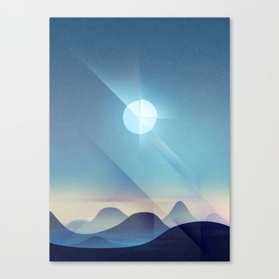 Northern Lights Abstract Canvas Print