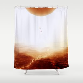 Mars Diving Shower Curtain