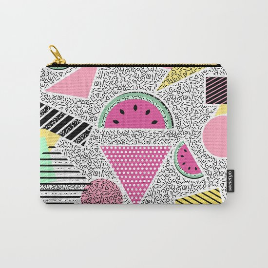 Modern geometric pattern Memphis patterns inspired Carry-All Pouch