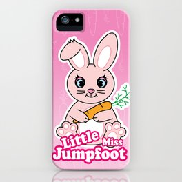Little Miss Jumpfoot iPhone Case