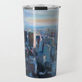 New York City - Manhattan Skyline in Warm Sunlight Travel Mug
