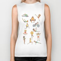 gym Biker Tanks featuring Gym Buddies by Sid's Shop