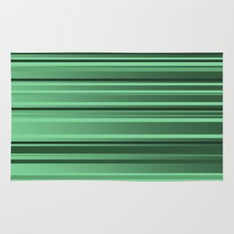 Stripes small only green Rug