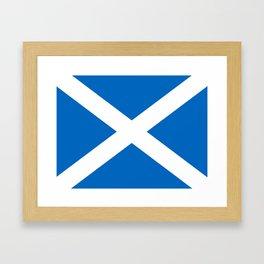 Scottish flag Saltire Framed Art Print