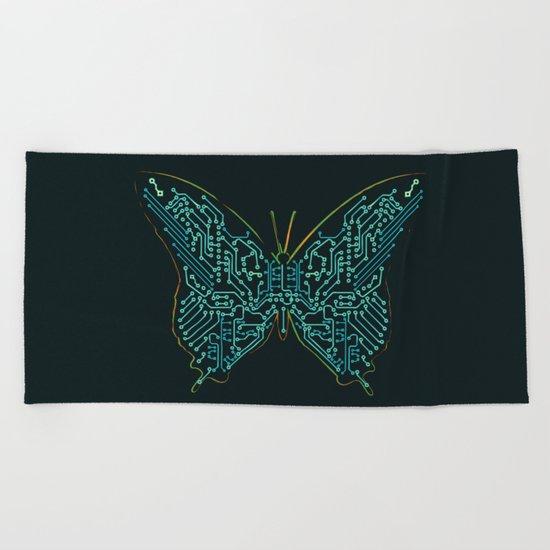 Mechanical Butterfly Beach Towel