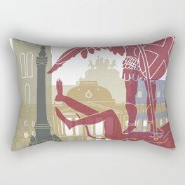 Brussels skyline poster Rectangular Pillow