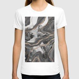 Liquid Marble Agate Glitter Glam #9 (Faux Glitter) #decor #art #society6 T-shirt