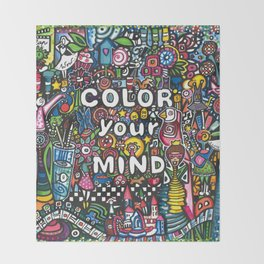 color your mind by Astorg Audrey Throw Blanket