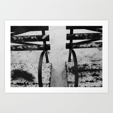 World in Black and White Art Print
