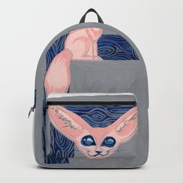 F is for Fennec Fox Letter Alphabet Decor Design Art Pattern Backpack