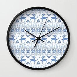 Christmas pattern. Cross-stitch. 2 Wall Clock