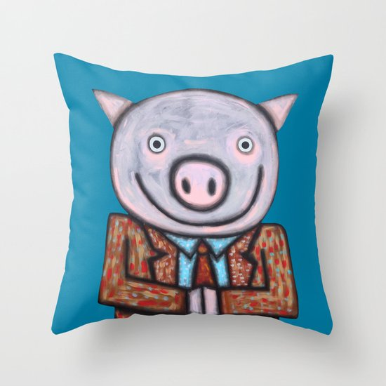 Mr.Mayor Throw Pillow